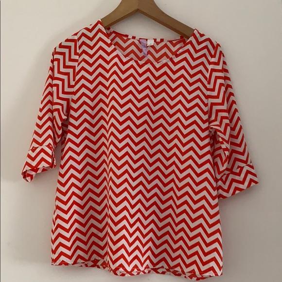 Alya Tops - Chevron blouse, super comfortable!